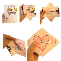 Valentines continuous card surprise, that is so cute! Ahh so many cute ideas