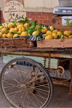 Citrons...An Antique Cart of Lemons in the French Riviera! See more at thefrenchinspiredroom.com