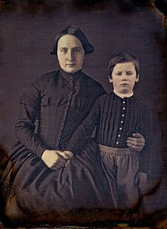 Mother and son in mourning 1852