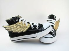 Funny Superhero Shoes by smallfly $24. Meg plus these shoes = adorable!