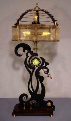 Steampunk-Inspired Lamps - Designer Art Donovan's Lighting Fixtures Reference Mechanical Subgenre (GALLERY)