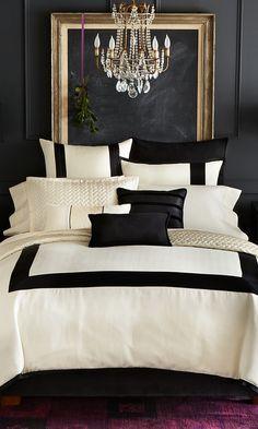 Park Luxe Herringbone Hemstitch #bedding collection #bedroom design