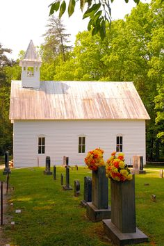 Cades Cove Chapel! Beautiful shot of one of the churches in Cades Cove!