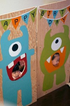 little monster birthday party table cloth - Google Search