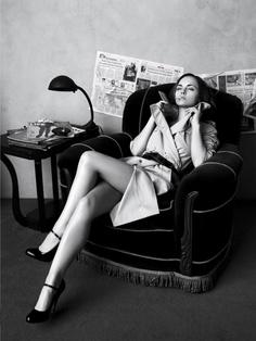 Christina Ricci slums it for Vogue.