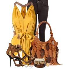 Feathery Bag with matching shoes and accessories.