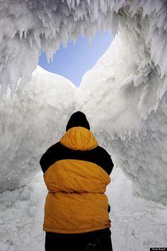 ice caves-Michigan