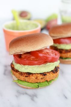 Garlic Chipotle Cheddar Sweet Potato Burgers (And Special Avocado Ranch!)