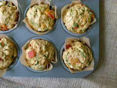 Savory Muffins with Spinach, Roasted Peppers and Feta Recipe