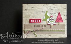 Birch Paper Christmas Card by Cindy Schuster