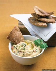 Lighter Game-Day Recipes: Spiced-Up Hummus Recipe
