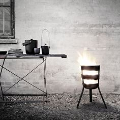 Fire Basket.  Feels so iron forge Nordic.  Perfect for Minneapolis.  Now where's my Viking...