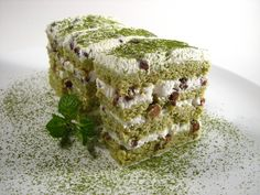 Matcha and Red bean Cake