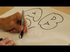 draw lesson, drawings, art video, bubbles, bubbl letter, doodl, draw bubbl, letters, letter art