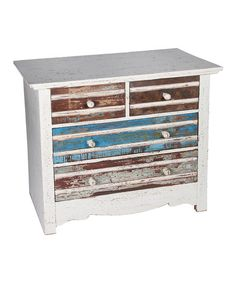 White & Blue Vintage Dresser vintage, white, dressers, blues