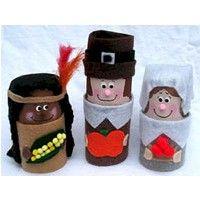 Cardboard Tube Pilgrims and Indian Craft