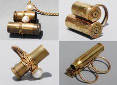 ecoconsci fashion, craft, bullet case, green, diy jewelri