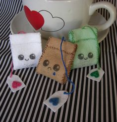 felt tea bags
