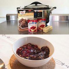 cherri cobbler, crock pots, crockpot recip, cake mixes, crock pot desserts, slow cooker, pie fillings, cherries, chocolate cakes