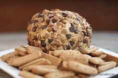 Peanut Butter Cheese Ball - serve with cookies - YUM!
