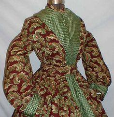 Wool & silk wrapper, c.1860