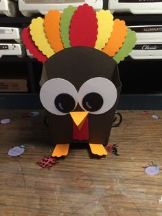 Turkey made with Fry box I made.  Please come visit my FB page for more Ideas & to like it!! https://www.facebook.com/pages/Heidi-Sorg-Stampin-Up-Independent-Demonstrator/244376662252321?ref_type=bookmark