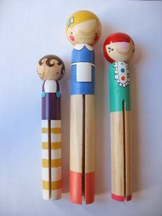 "handmade wood folk art giant round clothespin by mooshoo, $45.00  great for stocking stuffers!! for play or home decor   These are giant sized round clothespin shaped dolls. 6"" , 7"" &8""."