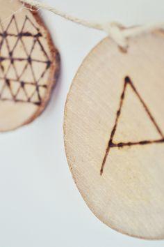 Dejando volar la imaginación con las rodajas de madera