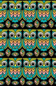 owl pattern <3 Cute Mr Hoot by Joanne Paynter