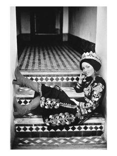 Vogue - April 1971 - Talitha Getty in Berber Wedding Dress