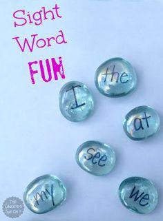 Hands On Sight Word Activity Idea using Glass Gems