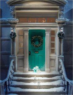 Tiffany blue front door--I want a blue front door!