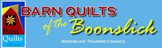 boonslick tourism banner including registered logo of Barn Quilts across America