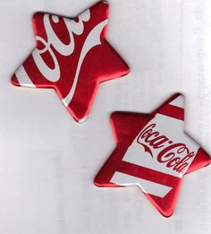 Coke stars made from recycled cans