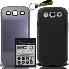 YESOO-GS3 Samsung Galaxy S3 4300mAh Extended Battery, Cover Pebble Blue, Extended TPU Case Black - List price: $39.99 Price: $15.99 Saving: $24.00 (60%)