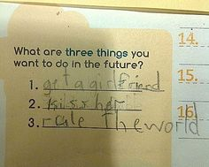 This kid is obviously an evil genius.
