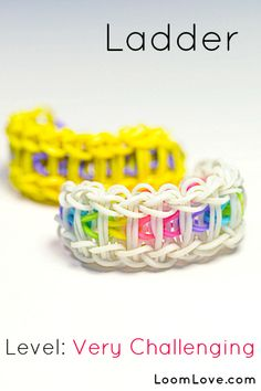 How-to: Make a Ladder Rubber Band Bracelet #rainbow #loom