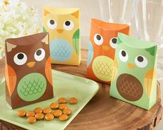 Baby Owl Favor Boxes- Set of 24 - Baby Shower Ideas