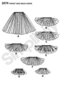 Diy Sewing Pattern-Simplicity 2074-No Sew Tutu Skirt-One Size. $6.00, via Etsy.