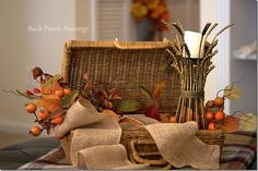 Tuesday Tidbits5 - Back Porch Musings~Autumn Vignettes