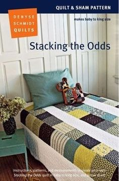 Denyse Schmidt Stacking the Odds Quilt Pattern -- simply nice.