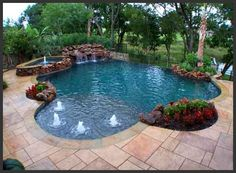 Pools-decks-hot tubs! on Pinterest