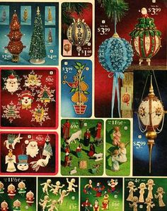 Decorations for your tin Christmas tree 1970's