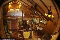 Treehouse Loft Bed, Fall City, Washington