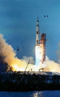On March 3, 1969, Apollo 9 launched carrying astronauts James A. McDivitt, David R. Scott, and Russell L. Schweickart. The mission was the first crewed flight of all Apollo lunar hardware in Earth orbit and the first test of the lunar module in space. | Photo credit: NASA