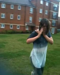 Video: This isn't what she was expecting to happen during Ice Bucket Challenge