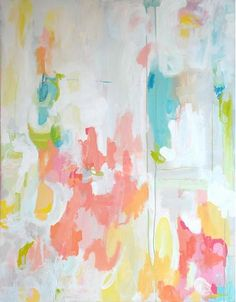 pastel color abstract painting