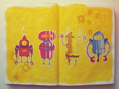 Santiago Régis  #robot #illustration #sketchbook