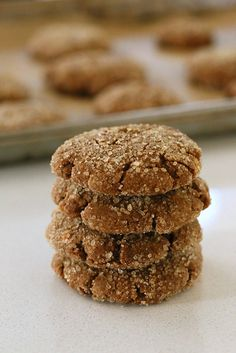 Triple Ginger Molasses Soft Cookies.