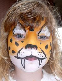 Cheetah costume facepaint